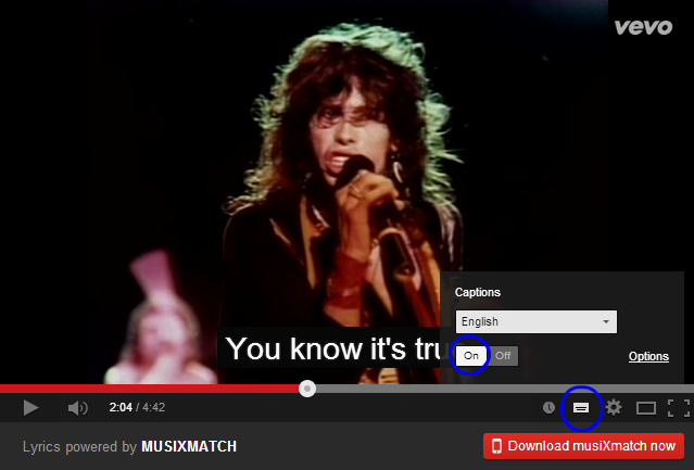 musixmatch chrome extension for youtube lyrics