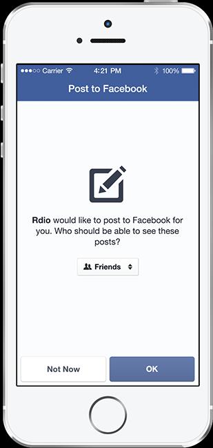 Facebook Login Post Control