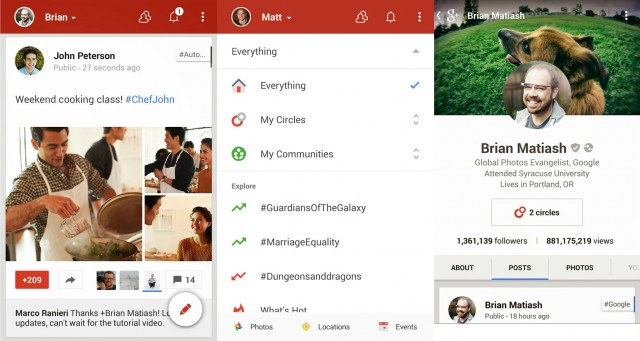 Google Plus for Android v4.4