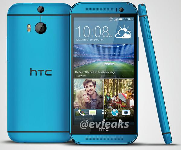 HTC One M8 Blue evleaks