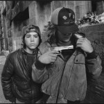 """Rat"" and Mike with a gun, Seattle, Washington, 1983"