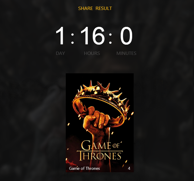 game of thrones total time