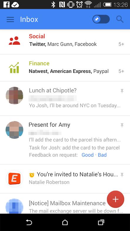 gmail new mobile design 2014
