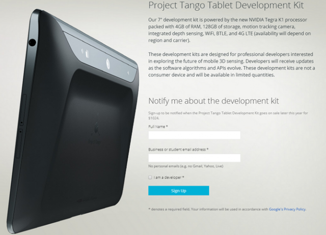 Project Tango Tablet Development Kit 02