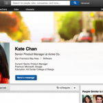 linkedin new profile page