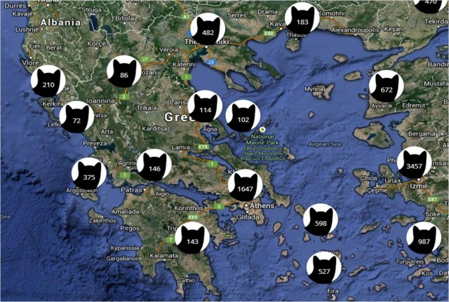 i know where your cat lives map