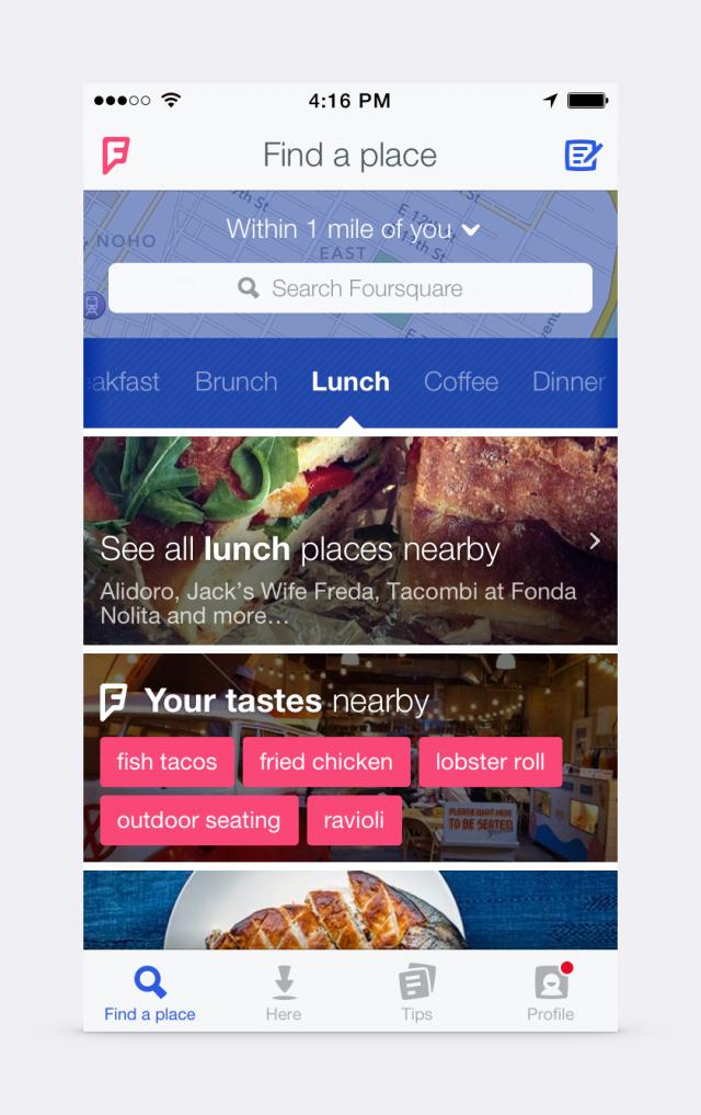 new-foursquare-app