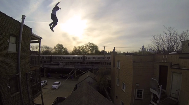 Epic Roof Jump Go Pro Ethan Swanson