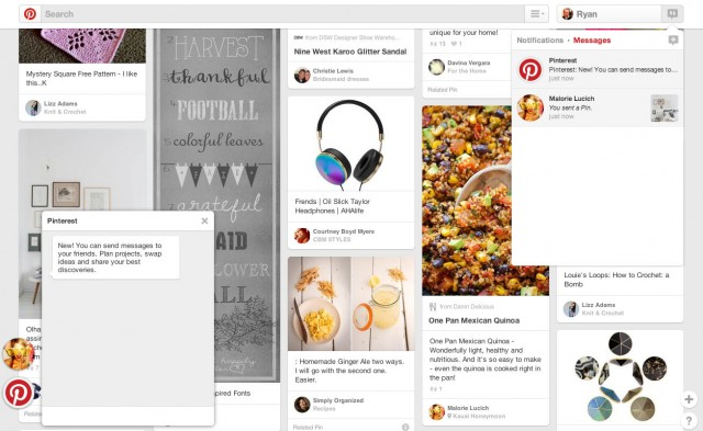 pinterest web messages