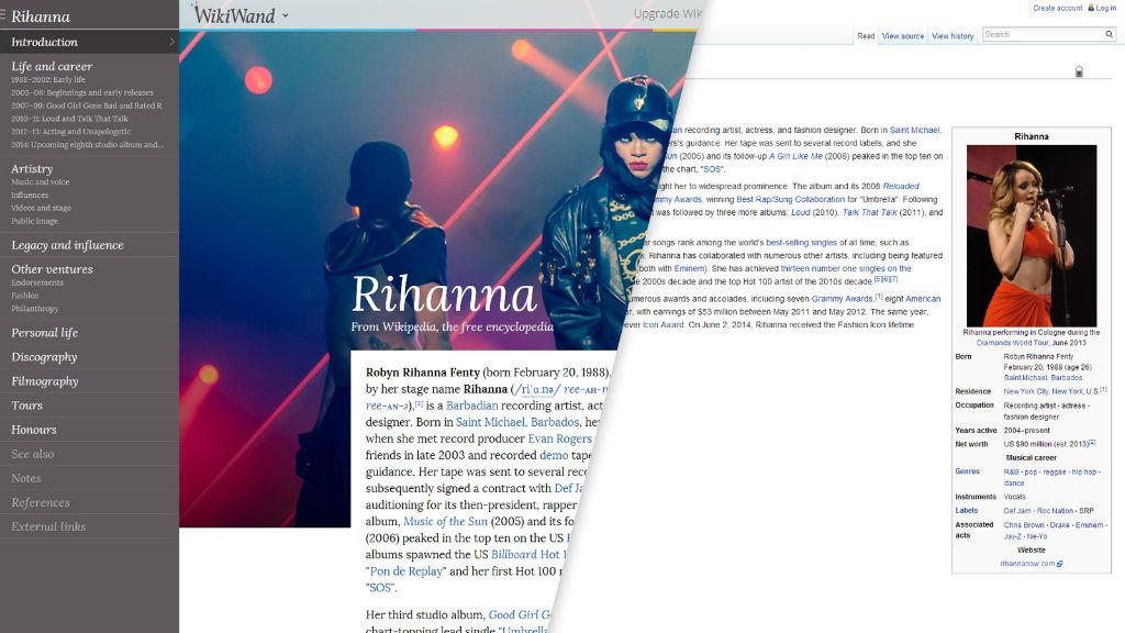 wikiwand vs wikipedia