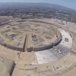 Apple spaceship campus construction