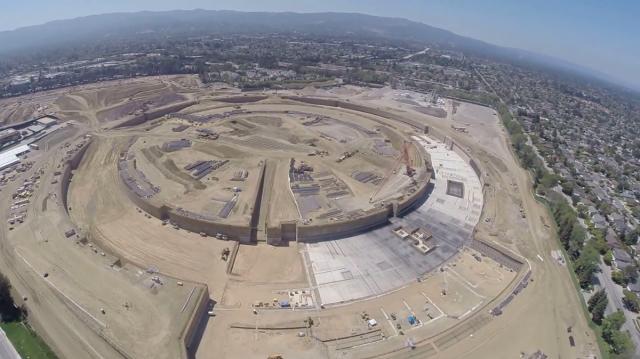 Apple spaceship campus construction