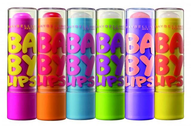 Baby Lips by Maybelline NY ( 3 unisex, χωρίς χρώμα με SPF 20 & 3 με χρώμα και γεύσεις φρούτων)