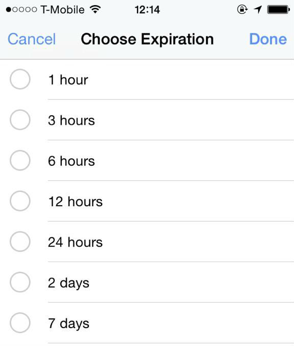 Facebook posts expiration time