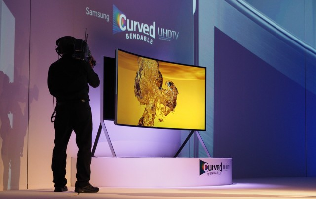 samsung uhd tv curved bendable