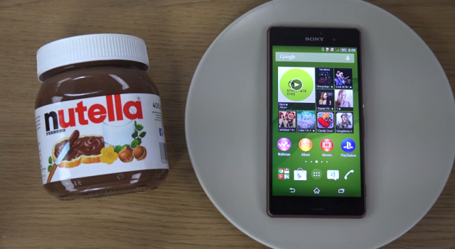 Sony Xperia Z3 Nutella Test