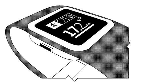 Φωτογραφία που διέρρευσε νωρίτερα μέσα στη χρονιά από patent fillings της Microsoft για ένα fitness band.