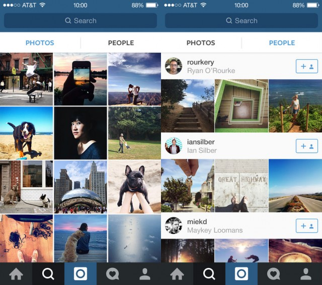 Instagram new People tab in Explore tab