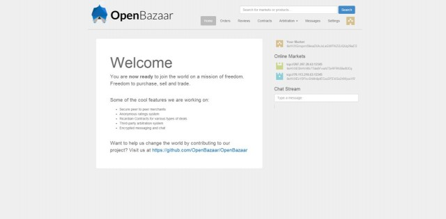 OpenBazaar Screenshot