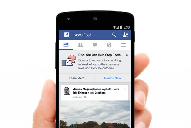 facebook supports fight for ebola