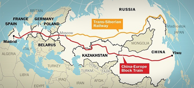 part of the New Silk Road