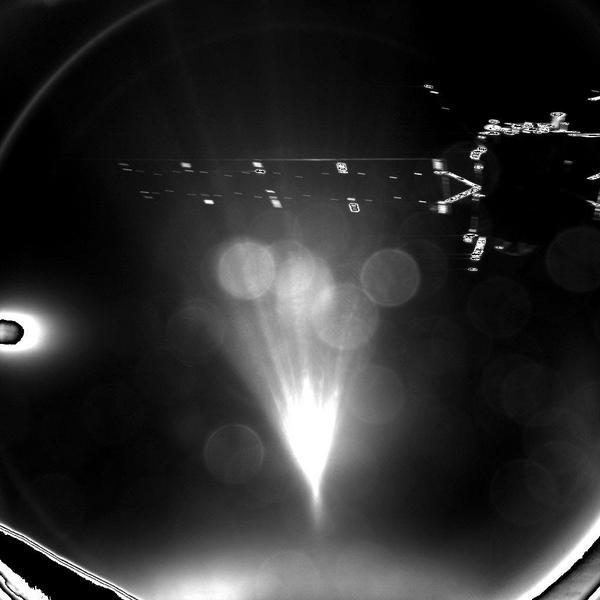 Η πρώτη... φωτό που έστειλε το Philae, αμέσως μετά το διαχωρισμό, είναι αυτή!