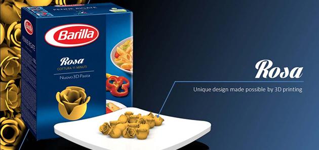 Barilla 3D printing