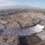 Apple new spaceship HQ - 4K drone flyover