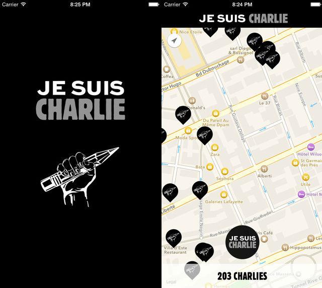 Je Suis Charlie iOS app