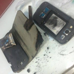 Samsung Galaxy S3 on fire
