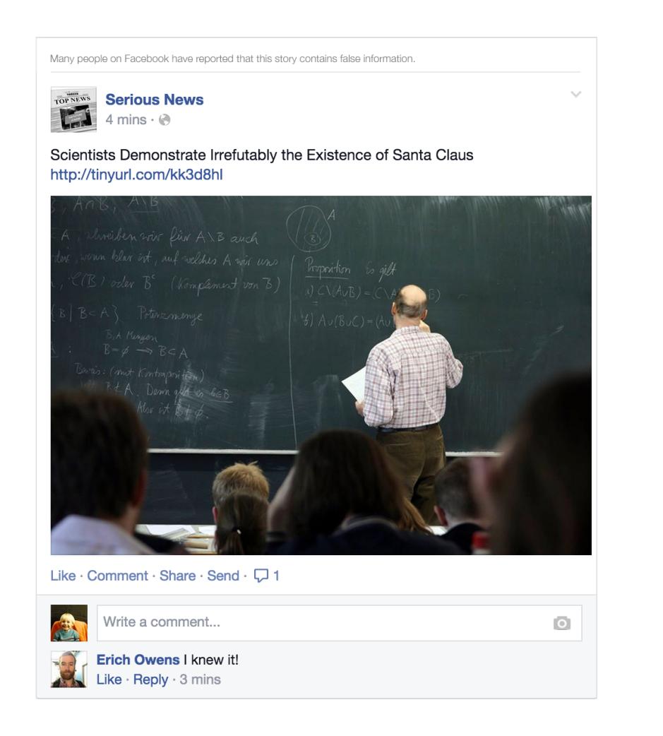 facebook news feed hoax