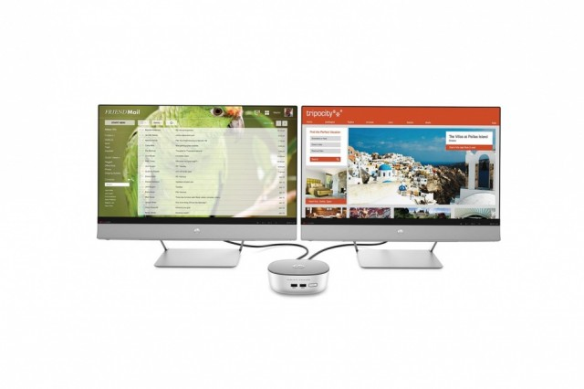 Hewlett Packard Pavilion Mini Dual Monitor