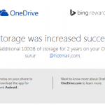 100 GB free OneDrive Bing Rewards
