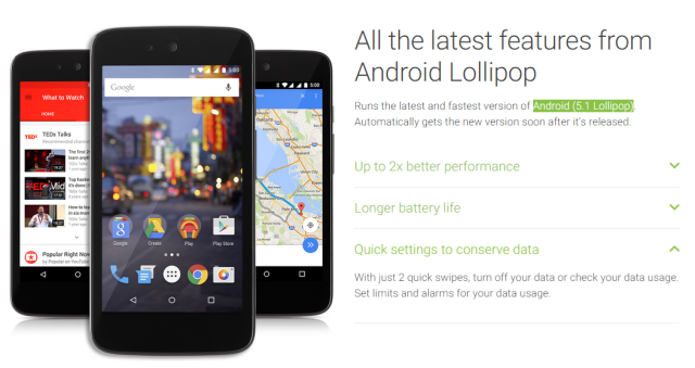 Android One Android 5-1