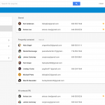 Google Contacts preview