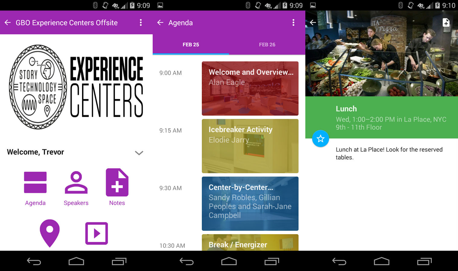 Google Interactive Events Android app