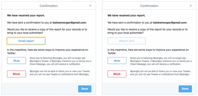 twitter helps users report threats to police