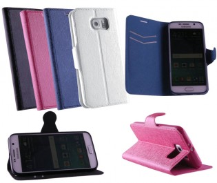 ΘΗΚΕΣ SAMSUNG G920 S6 LINE LEATHER-TPU BOOK STAND