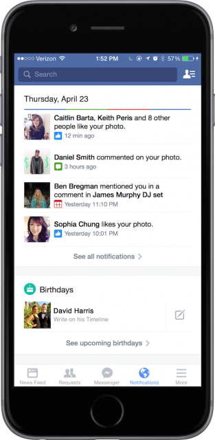Facebook Notifications 1