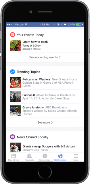 Facebook Notifications 2