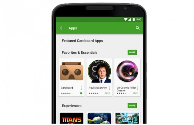 Google Play Cardboard Apps