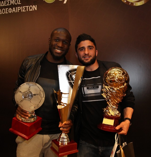 Oι Μίκαελ Ποτέ, πρώτος σκόρερ της Α΄φάσης του πρωταθλήματος και o Γιώργος Οικονομίδης, βραβείο καλύτερου γκολ της χρονιάς