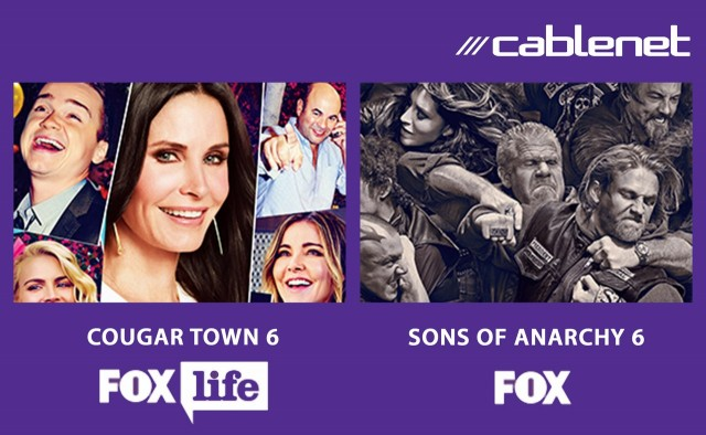COUGAR TOWN 6 & SOSNS OF ANARCHY 6 Cablenet