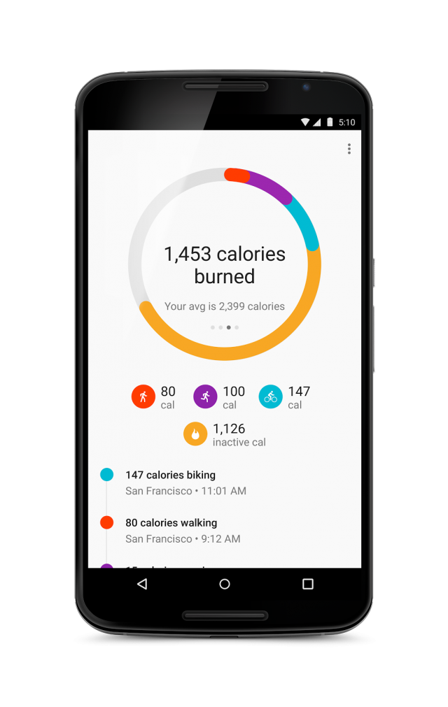 google fit calories
