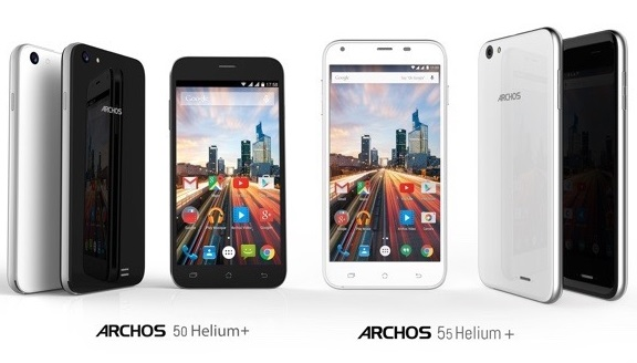 Archos 50 Helium Plus and 55 Helium Plus