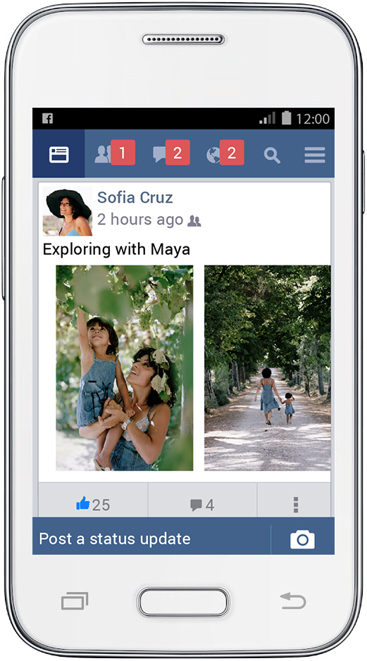 Facebook lite news feed