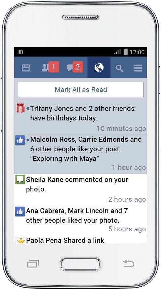 Facebook lite ειδοποιήσεις