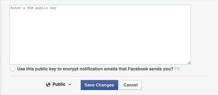 Facebook Encrypted emails