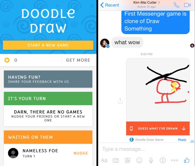 facebook messenger Doodle Draw