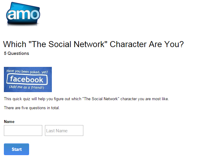 the social network quiz